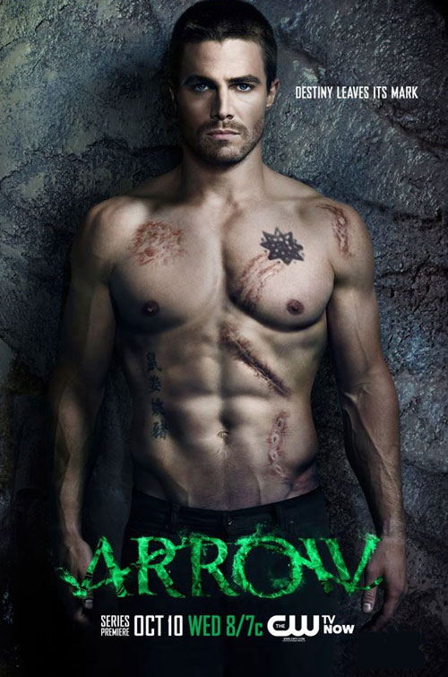 Steven Amell of the CW's ARROW shirtless poster