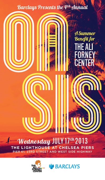 Summer benefit for the Ali Forney Center - July 17th at Chelsea Piers
