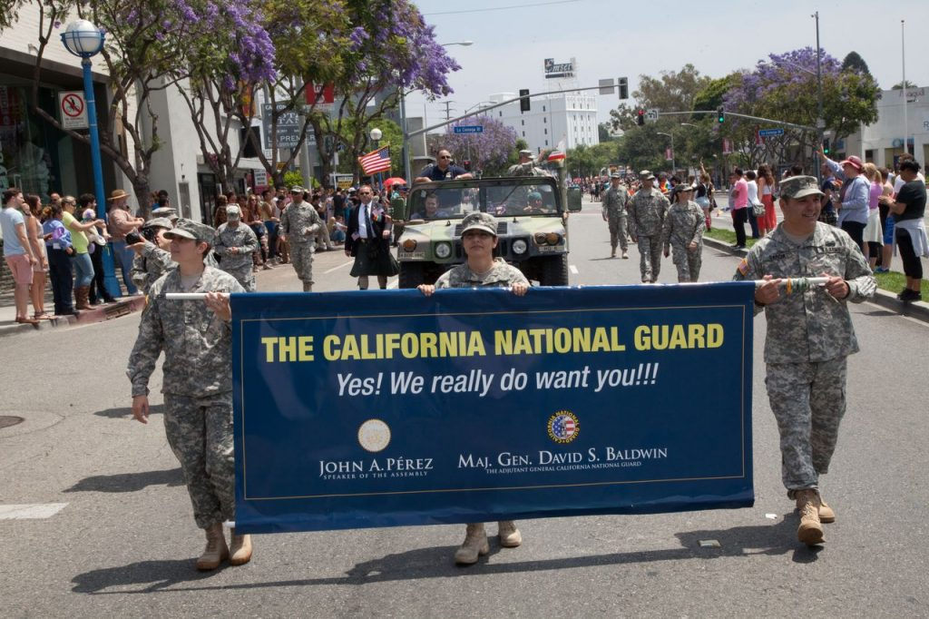 National Guard marches in Los Angeles Gay Pride parade