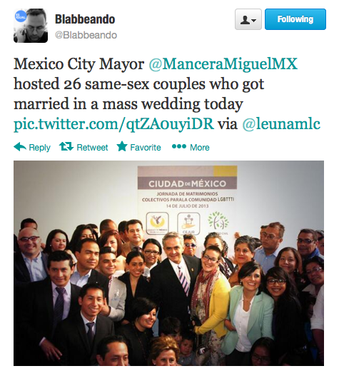 Mexico City mayor hosts 26 same-sex couples who got married in mass wedding