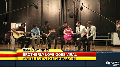 Big Time Rush serenades 8 year old Amber Suffern after she was the victim of bullying at her school