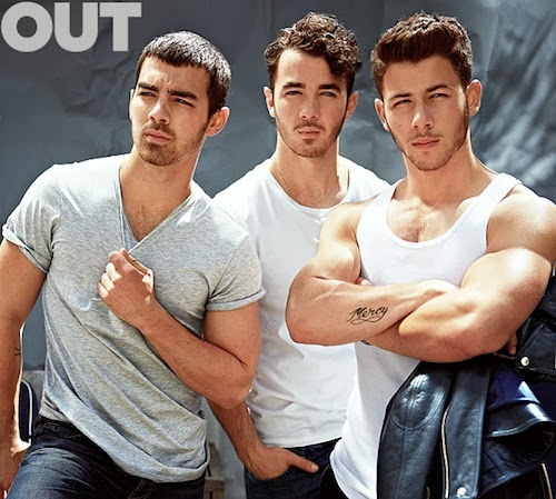 The Jonas Brothers pose for and chat with OUT Magazine about their new music, gay rumors and getting older as a boy band