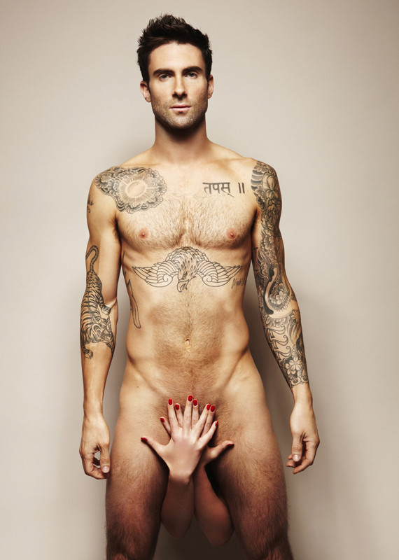 """Adam Levine, pictured here naked, is set to be People Magazine's next """"Sexiest Man Alive"""""""