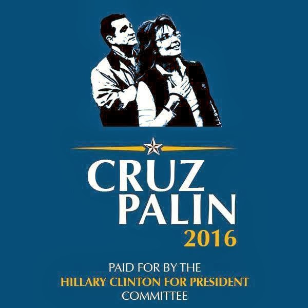 A Ted Cruz - Sarah Palin GOP ticket would be the mostest fun in 2016!