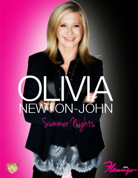 Olivia Newton-John announces 9 week concert residency at the famous Flamingo Las Vegas