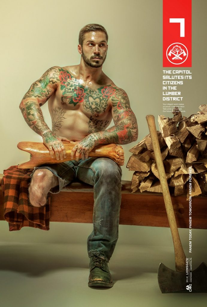 Alex Minsky, US Marine and underwear model featured in Hunger Games promo poster