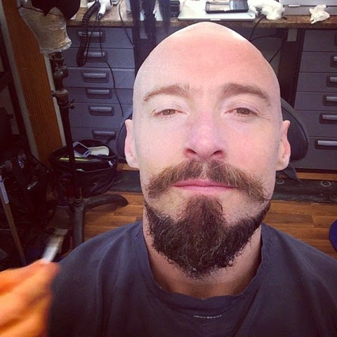 Hugh Jackman shaves his head in anticipation of his next role as Blackbeard in the upcoming film PAN.