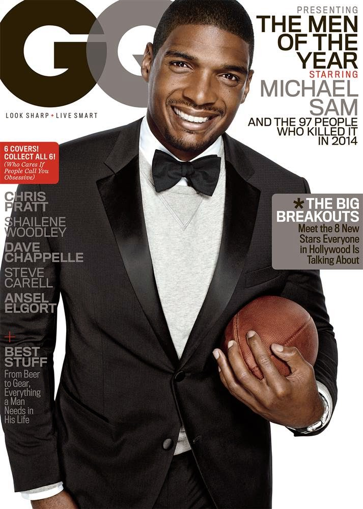 """Out NFL-er Michael Sam named as one of GQ Magazine's """"Men Of The Year"""""""