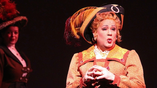 """Lee Roy Reams stars as """"Dolly Levi"""" in HELLO, DOLLY! at The Wick Theater"""