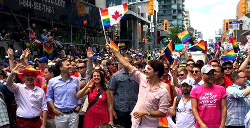 Prime Minister Justin Trudeau makes history by marching in