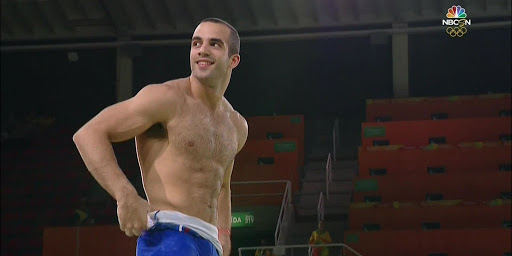 Shirtless Danell Leyva performs at Rio Olympics Gymnastic Gala - woof!