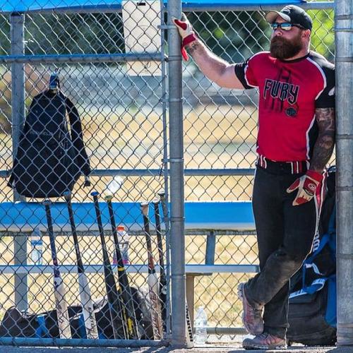 Woofy baseball player