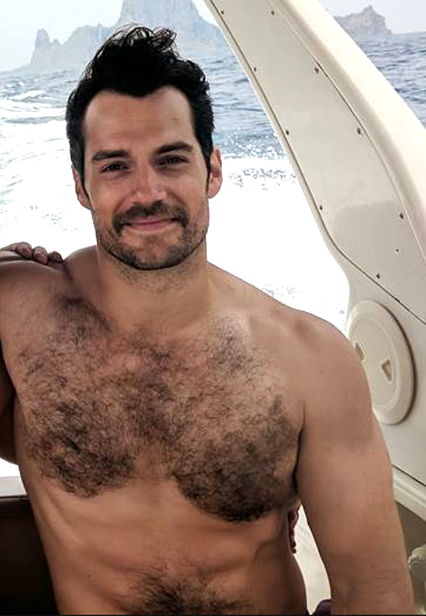 Superman star Henry Cavill's super-stache and hairy chest are everything