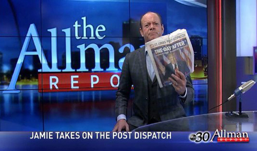 Conservative commentator Jamie Allman lost his TV show after threatening to ram a hot poker up 17-year-old David Hogg's ass