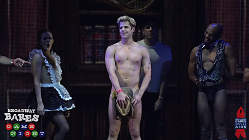 Charlie Carver of 'The Boys in the Band' plays strip-trivia at Broadway Bares