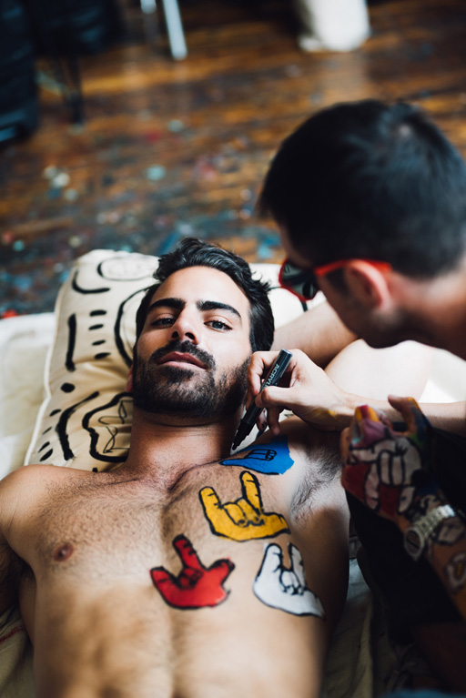 """Actor and model Nyle DiMarco covers Gay Times Magazine  wearing only 'I love you"""" in body paint"""