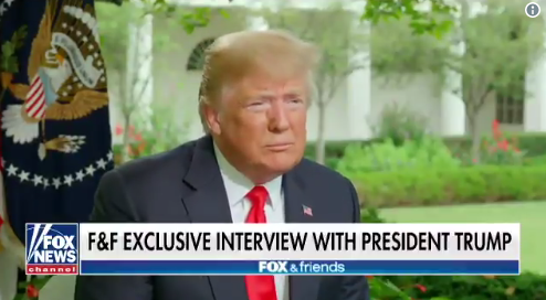 """In a softball interview for Fox News, Donald Trump told Fox & Friends talk show host Ainsley Earhardt that he couldn't understand how anyone would impeach """"somebody who's doing a great job?"""""""