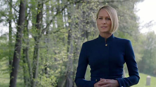 """Just in case folks didn't get the memo, Netflix's hit show House of Cards is D-O-N-E done with Kevin Spacey and his character, """"Frank Underwood."""""""