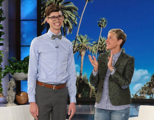 This week Ellen DeGeneres welcomed Seth to her show to celebrate him and his amazing fortitude in the face of so many obstacles.