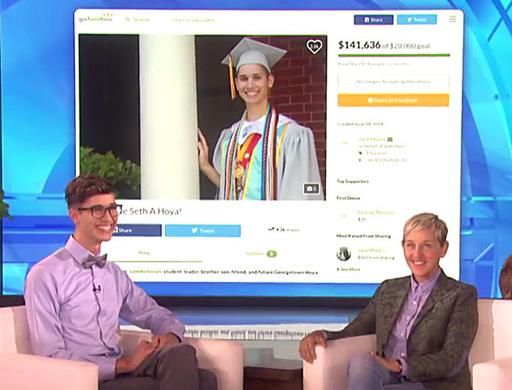 Ellen DeGeneres surprises formerly homeless gay valedictorian Seth Owen