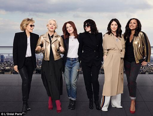 I love this new ad from L'Oreal featuring Jane Fonda, Helen Mirren, Julianne Moore, Isabelle Adjani, Iris Berben and Vanessa Williams.