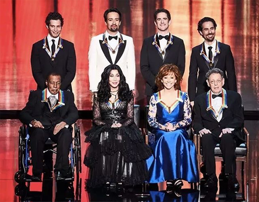 Do not forget to watch the Kennedy Center Honors tonight on CBS at 8pm as Cher, Philip Glass, Reba McEntire, and Wayne Shorter receive the 41st Annual Kennedy Center Honors.  Hamilton co-creators Lin-Manuel Miranda, Thomas Kail, Andy Blankenbuehler, and Alex Lacamoire receive a special Honors for groundbreaking work.
