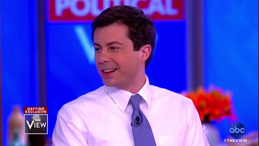 Appearing on The View today, presidential hopeful Mayor Pete Buttigieg of South Bend, Indiana, was asked the question everyone wants to know: Is America ready for its first gay president?