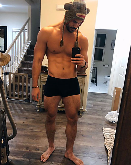 • InstaHunk Danny 'Tree Man' Jones acknowledges the challenges of trying to post 'engaging' content even when it's freezing outside.
