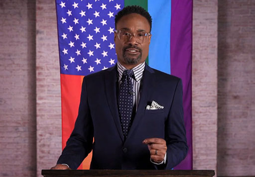 """In advance of President Trump's annual State of the Union address tonight, actor/activist Billy Porter delivered Logo's """"LGBTQ State of our Union"""" regarding issues facing the LGBTQ community - triumphs, setbacks and looking ahead to 2019 as we celebrate the 50th anniversary of the Stonewall Riots."""
