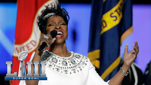Music legend and Atlanta native Gladys Knight came to slay at Super Bowl LIII as she delivered an elegant and stirring rendition of the National Anthem.