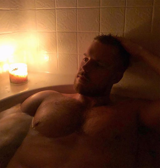 • InstaHunk Jared Techau has the right idea for cold, rainy nights in Los Angeles. #metime #mood #candles