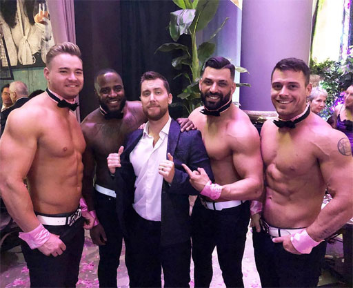 First up, Lance Bass found the Chippendales in Las Vegas. Clearly, the conversation was all about nutrition, right?