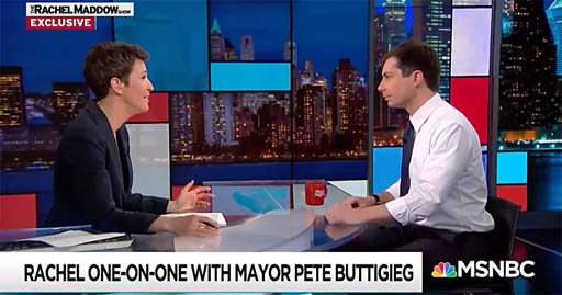 In a revealing one-on-one interview on MSNBC's The Rachel Maddow Show, Maddow spoke with Democratic presidential contender Mayor Pete Buttigieg about a range of topics, including being closeted and coming out.
