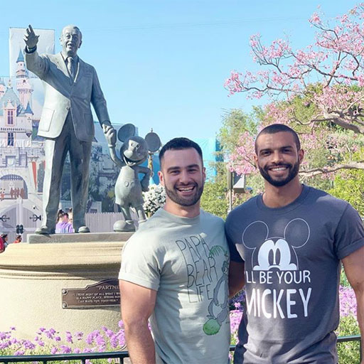 InstaHunks Ben Zerbst and Donald Romain took each other to Disneyland for some Hump Day fun. #FutureDILFSofDisneyland