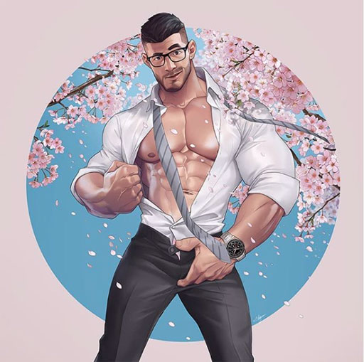 Who else is feeling springtime in the air? Graphic artist Silverjow captures the mood perfectly (above). He shares that he was inspired by the cherry blossoms in Japan as well as the stylish peeps heading to work in their business suits :)
