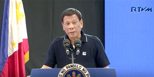 Rodrigo Duterte, the controversial president of the Philippines, joked during a trip to Japan that he had once been gay but 'cured' himself upon meeting his ex-wife.