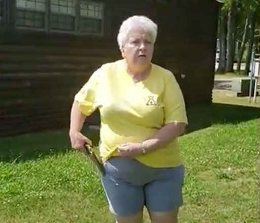 A white female campground manager in Mississippi pulled a gun on a black couple and their dog accusing them of not having a reservation to picnic at the lake.