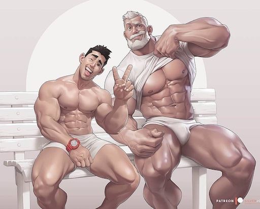 • I never get tired of the fun, whimsy and sexy diversity from graphic artist Silverjow (above). Happy Saturday!