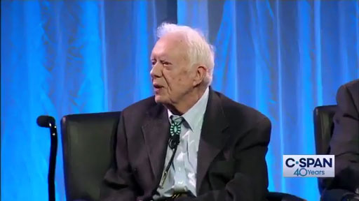 Speaking at the Carter Center's retreat in Leesburg, Virginia, on Friday, former President Jimmy Carter told the crowd he believes a full investigation into Russian interference in the 2016 election would reveal that Donald Trump did not indeed win the presidency.