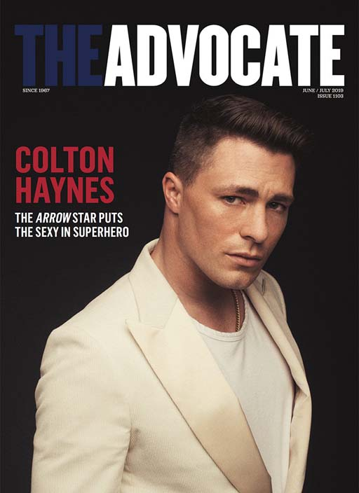 Actor Colton Haynes covers the latest issue of The Advocate and shares that he only blames himself for his personal life spiraling out in public due to his own social media over-sharing