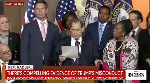House Judiciary Chairman Jerry Nadler announced today his committee is filing suit to acquire the grand jury material underlying the report by Special Counsel Robert Mueller.