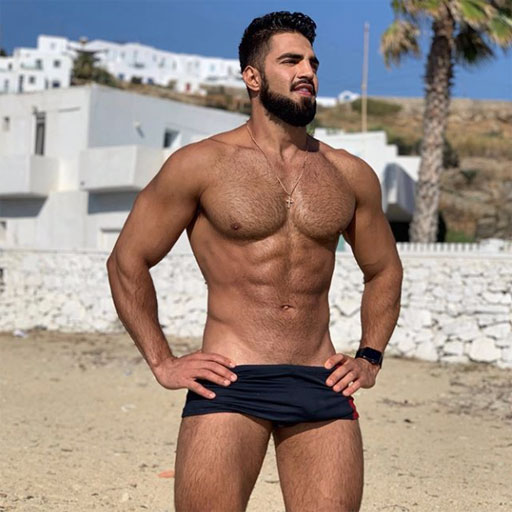 • InstaHunks: Woofy Jeff Ferreira shows off the gorgeous Greek landscape in Mykonos. Ok, maybe I'm just looking at Jeff... #busted