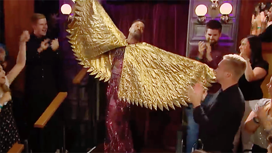 Billy Porter makes an entrance on The Late Late Show with James Corden