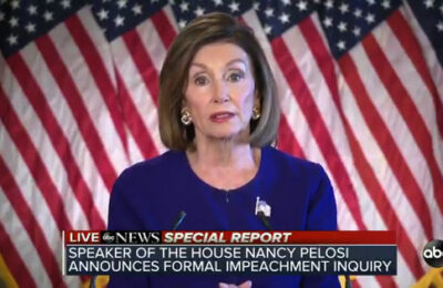 Speaker of the House Nancy Pelosi announces launch of formal impeachment inquiry into Donald Trump