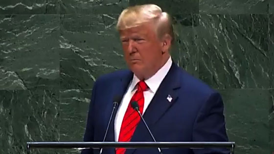 Donald Trump gives passing mention of LGBTQ rights during his 2019 address of the United Nations