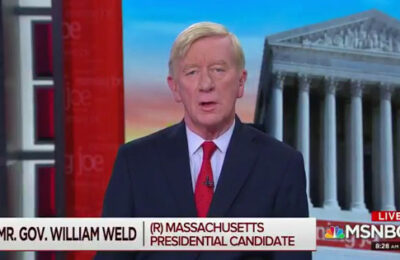 Former Massachusetts Gov. Bill Weld says Donald Trump's pressure on Ukraine to investigate Joe Biden constitutes treason.