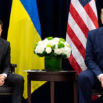 President Zelensky of Ukraine with Donald Trump
