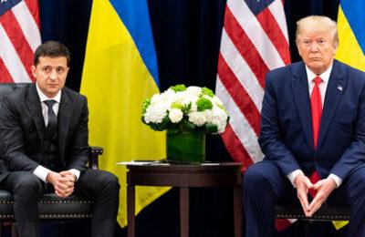President Zelensky of Ukraine with Donald Trump