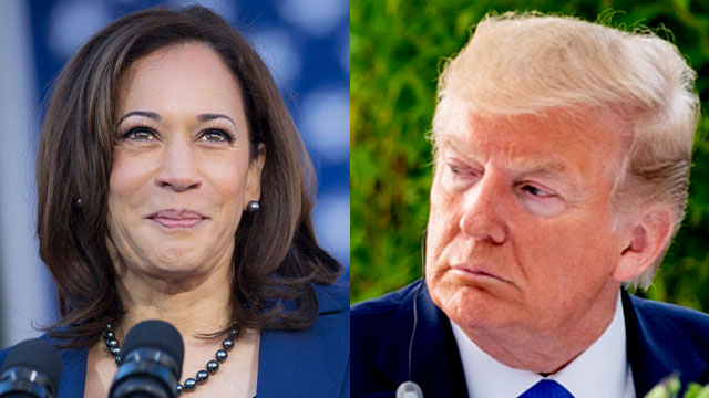"""Sen. Kamala Harris clapped back at Donald Trump on the issue of """"criminal"""" justice"""