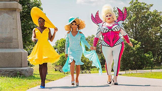 L-R Bob the Drag Queen, Shangela & Eureka O'Hara (image via HBO)